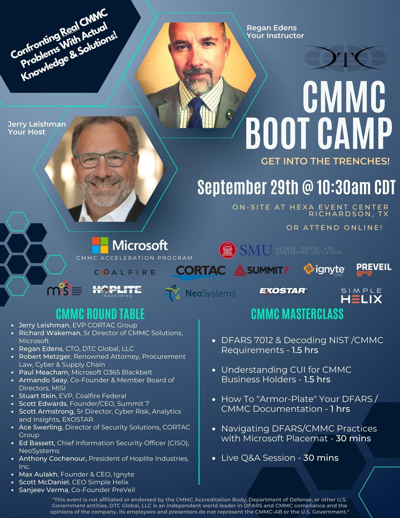 09.29.2021 CMMC Boot Camp Flyer
