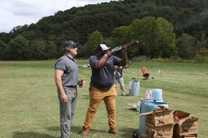 Lawrence Pippins, Account Executive at Simple Helix, shoots at 2021 BBBB Event