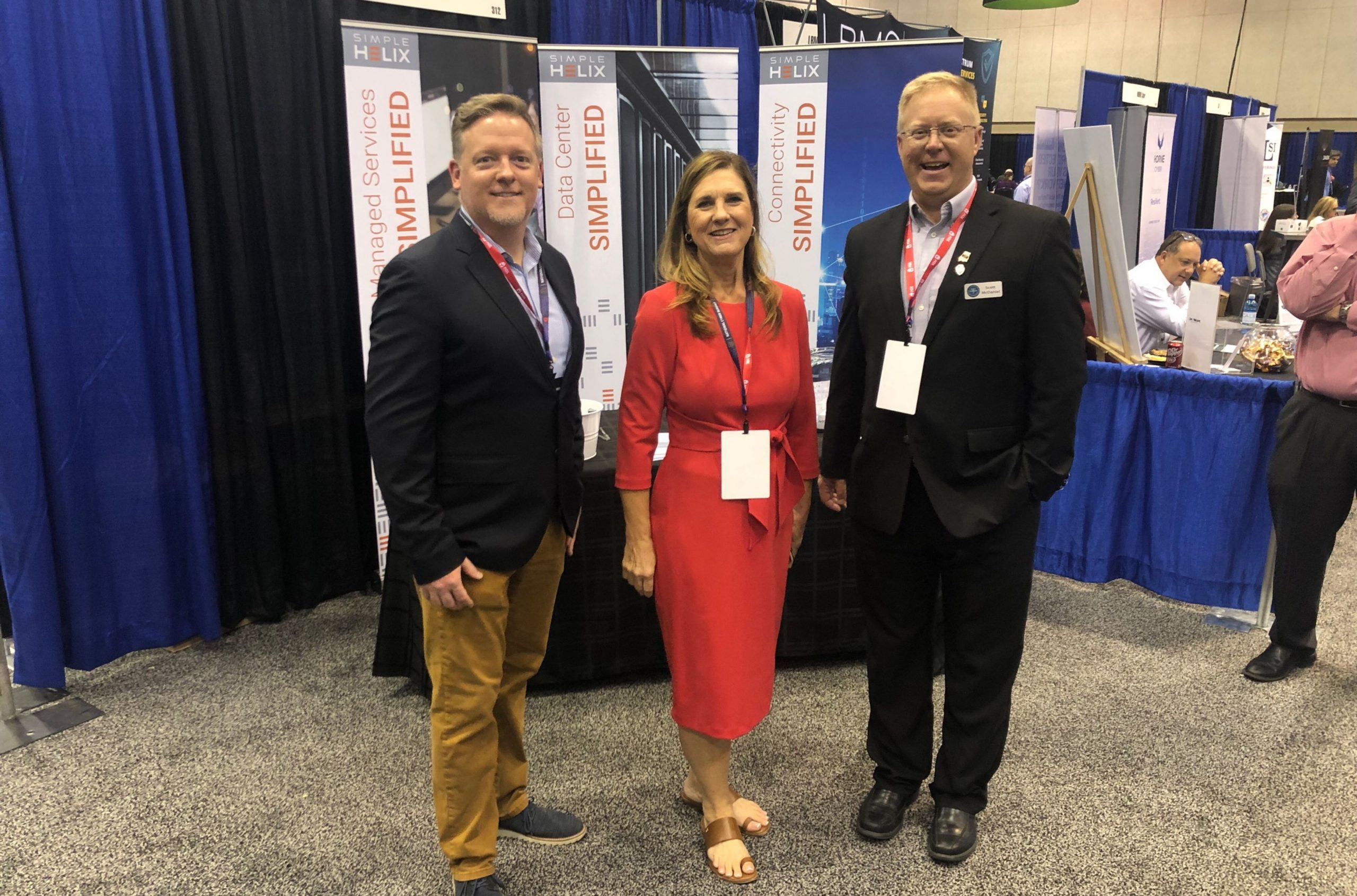 From left to right: Greg Engle, Judy Darwin, and Scott McDaniel